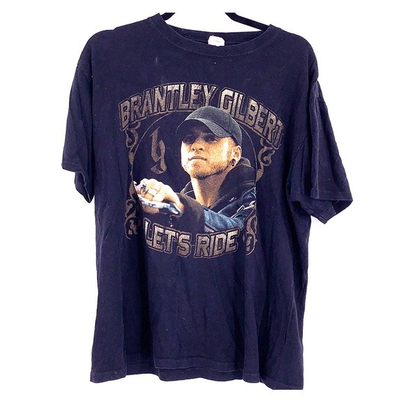 Vintage Tops - Vintage Brantley Gilbert tour t shirt 2013 large